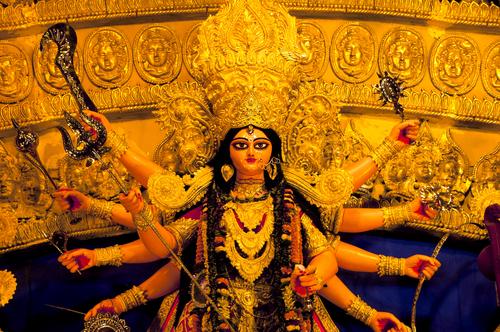 Durga,Idol, ,Durga,Puja,Navrata,,West,Bengal,,India
